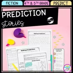Predicting unit for 4th grade and 5th grade for teaching making predictions