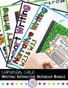 Common Core Writing Interactive Notebook Bundle Cover