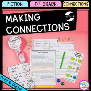 Making Connections cover for 1st grade showing printable and digital worksheets