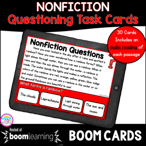 Ask & Answer Questions in Nonfiction for 2nd and 3rd Grade Boom Cards for Distance Learning