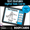 Text Features Digital Task Cards for 2nd grade and 3rd grade cover