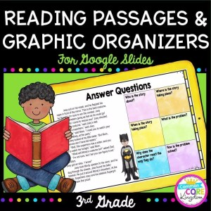 Reading Passages & Graphic Organizers for Google Slides Distance Learning for 3rd Grade cover