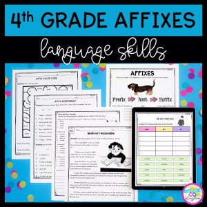 Cover for 4th grade affix unit