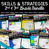 Skills & Strategies Bundle cover for 2nd & 3rd grades showing the 9 individual product covers