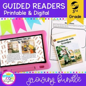 Guided Reading 3rd Grade Bundle - Printable & Digital Distance Learning