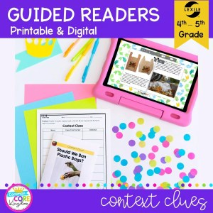 Context Clues Guided Reader cover for 4th & 5th grade RI.4.4 and RI.5.4