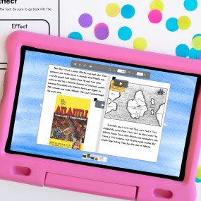 Guided Reading resource for Upper Elementary showing digital resource