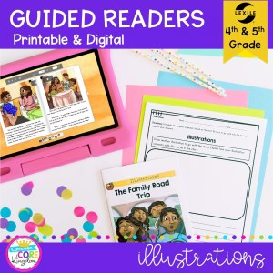 Illustrations Guided Reader cover for 4th & 5th grade RL.4.7 and RL.5.7