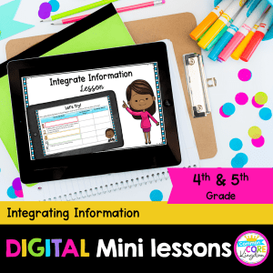 Integrating Information Digital Lesson 4-5 Grade in Google and Seesaw Format