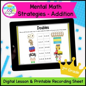 Mental Math Strategies: Addition in Google Slides and Printable Format