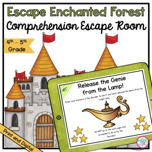 Comprehension Escape Room: Escape the Enchanted Forest for 4th & 5th Grade in Google Slides Format