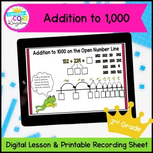 Addition to 1000 Mini Lesson for 2nd Grade