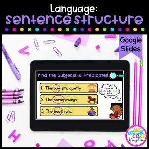 Sentence Structure Digital Activity for 2nd & 3rd Grade