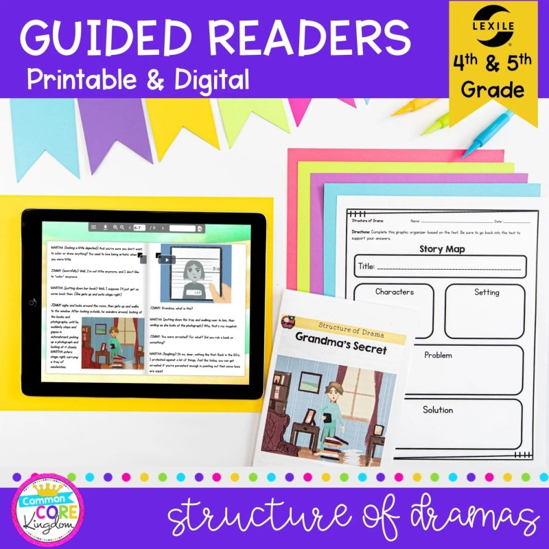Guided Readers: Figurative Language Structure of Drama RL.4.4 RL.5.4