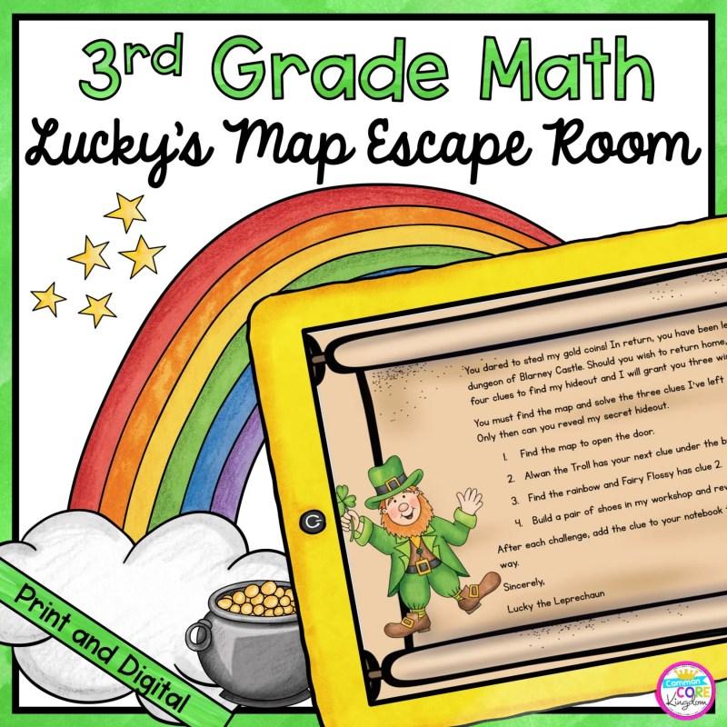 3rd Grade Math Escape Room Lucky's Map