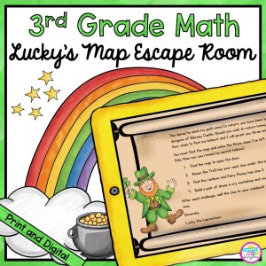 3rd Grade Math Escape Room Lucky's Map