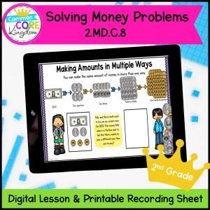 Solving Money Problems Mini Lesson for 2nd Grade in Google Slides Format