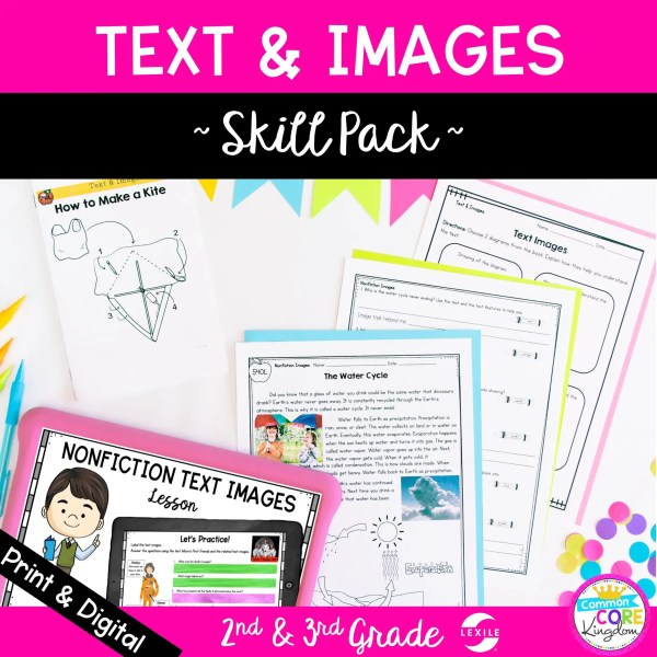 Texts & Images Skill Pack for 2nd and 3rd Grade RI.2.7 RI.3.7