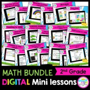 2nd Grade Math Digital Mini Lessons Growing Bundle