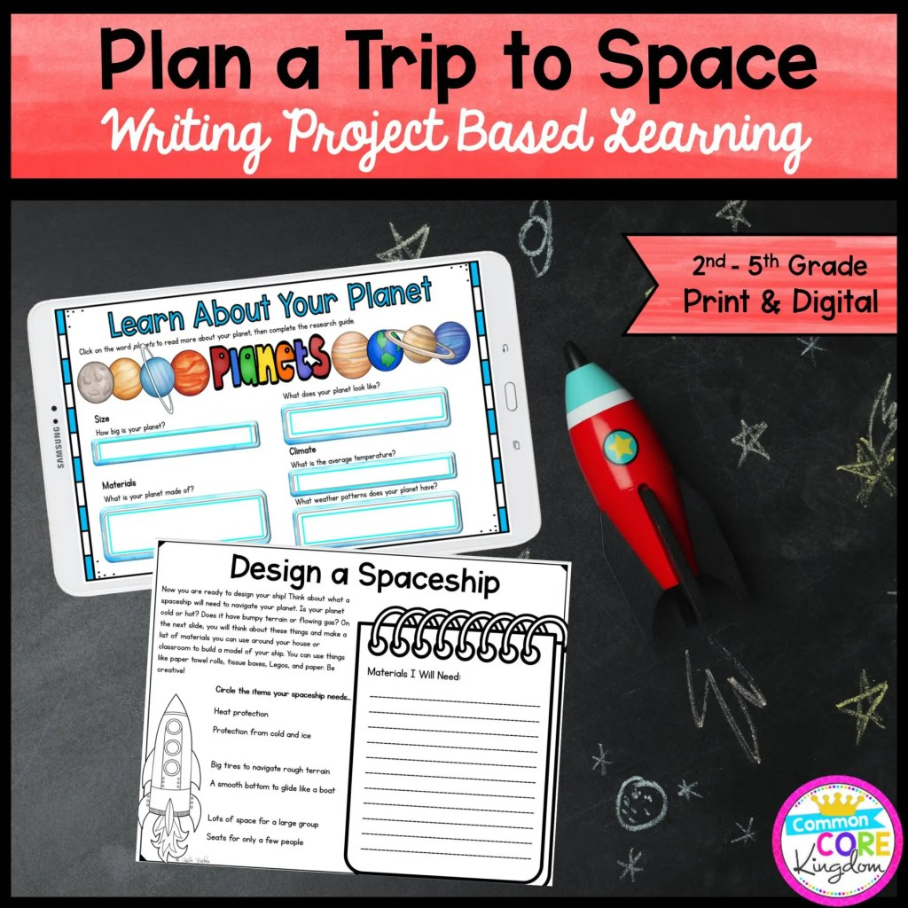 Plan a Trip to Space! Project Based Learning for 2nd-5th Grade in Digital & Printable Format