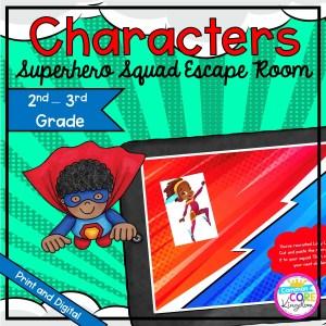 Characters Superhero Squad Escape Room - Google Slides & Printable 2nd & 3rd