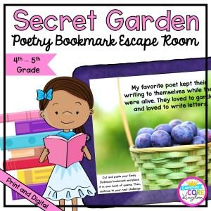 Secret Garden Poetry Escape Room for 4th & 5th Grade
