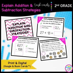 Explain Addition & Subtraction in Google Slides & Boom Task Cards Format