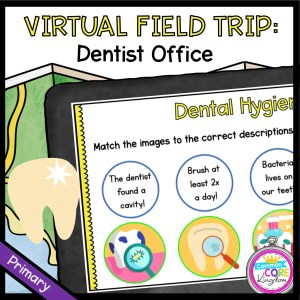 Virtual Field Trip to the Dentist for 1st Grade in Googles Slides & Seesaw Format