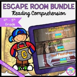 Reading Comprehension Escape Room Bundle for 4thh & 5th Grade
