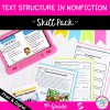 Text Structure in Nonfiction Skill Pack for 4th Grade - RI.4.5 for Classroom & Distance Learning