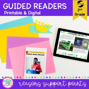 Guided Reading Packet: Reasons Support Points - 2nd Grade RI.2.8 in Printable & Digital Format