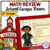 5th Grade Math Review - School Escape Room in Digital & Printable Format