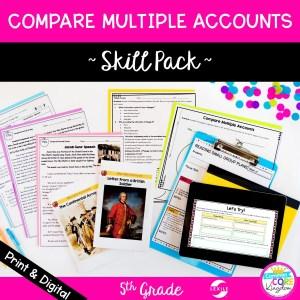 Compare Multiple Accounts in Nonfiction Skill Pack - RI.5.6 - Print & Digital