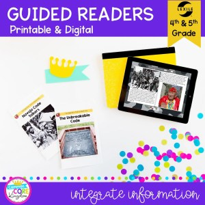 4th & 5th Grade Integrate Information Guided Readers