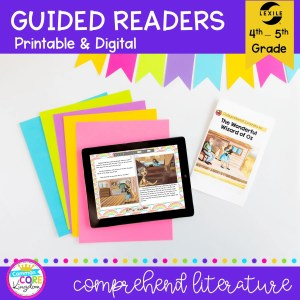 Guided Reading Packet: Comprehend Literature - 4th & 5th Grade RL.4.10 RL.5.10 - Printable & Digital Format