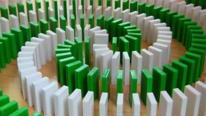 green white domino