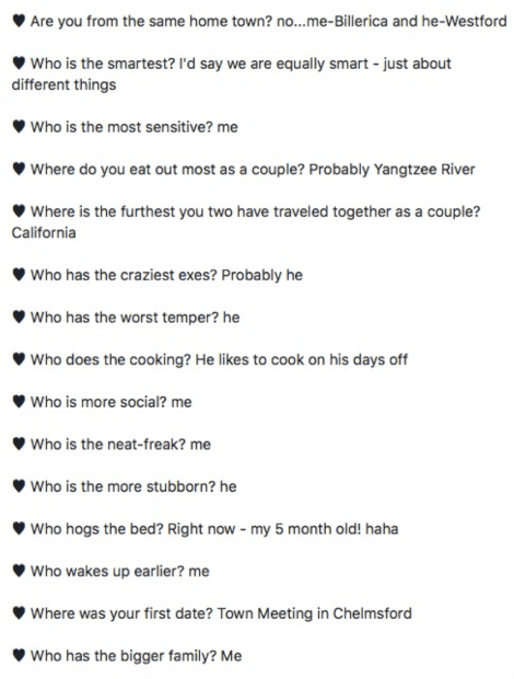 Security questions - Facebook
