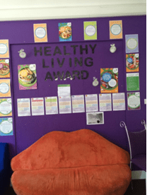 Healthy living education at Elgin Youth Development Group, Elgin