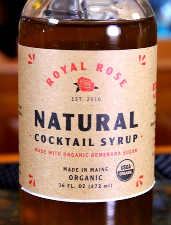 Royal Rose Natural Demerara Cocktail Syrup