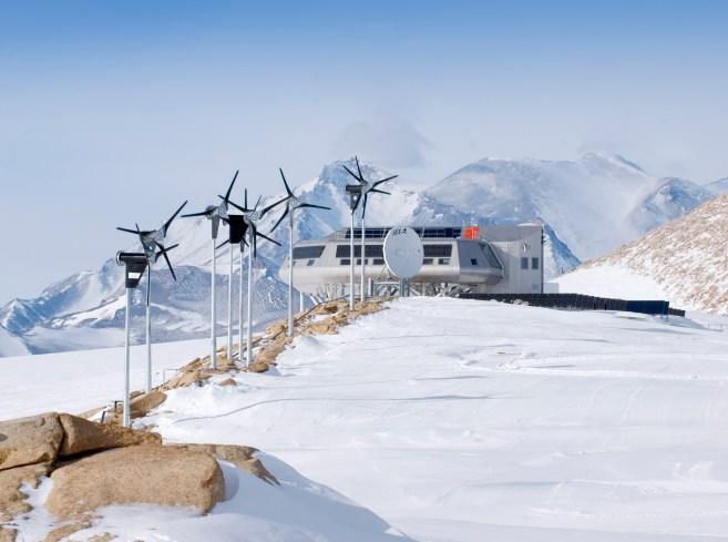 Princess Elisabeth Antarctic research station. Image: International Polar Foundation