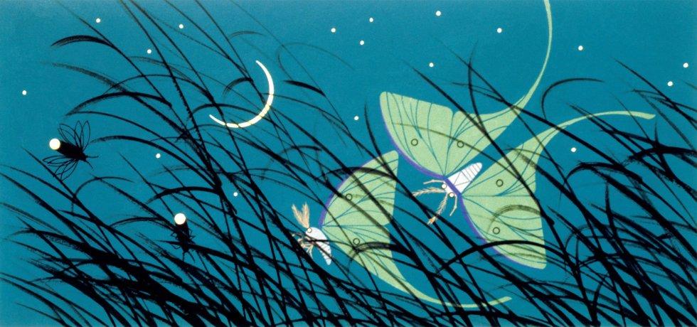 Luna Moths illustration by Charley Harper
