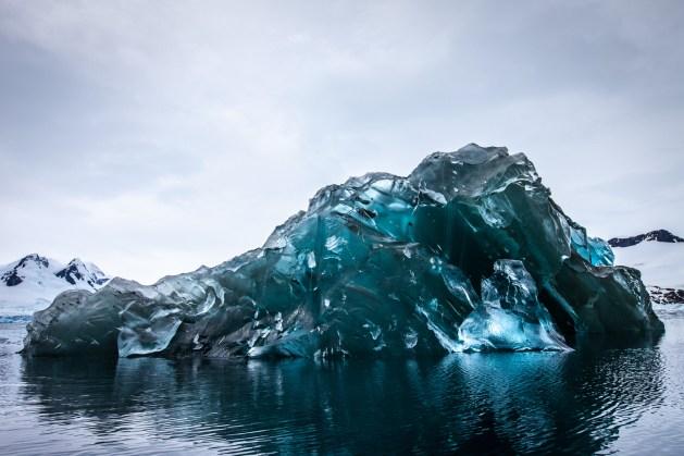 Overturned iceberg. Image: Alex Cornell