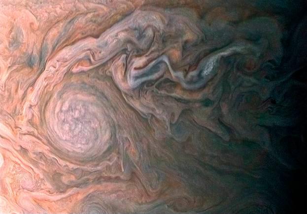The upper wisps of Jupiter's atmosphere