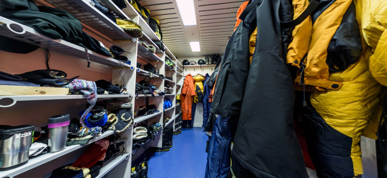 """The """"Boot Room"""" in C-Module at the Halley VI research station"""