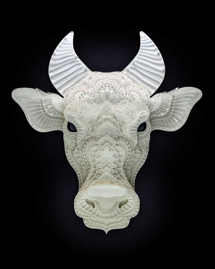 Tamaraw paper sculpture by Patrick Cabral
