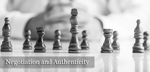 Negotiation and Authenticity