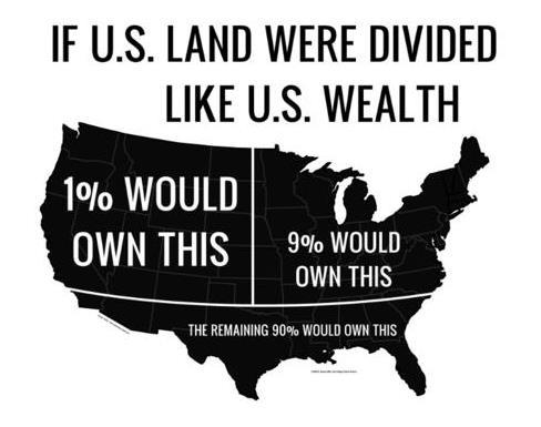1 percent map illustration