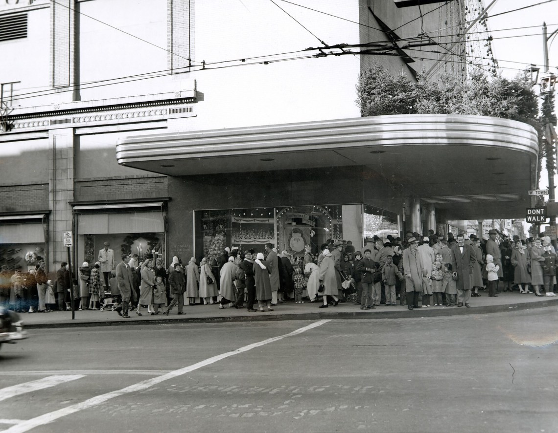 Holiday Shopping 1950s
