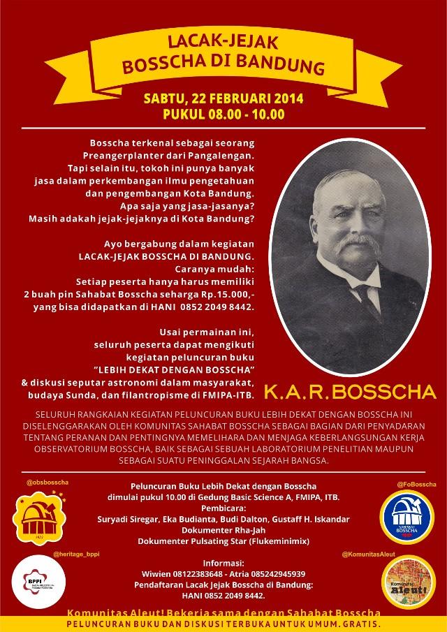 Poster Lacak Jejak Bosscha