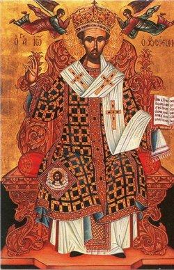Sf. Ioan Gură de Aur pe tron